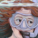 snorkeling girl_copyrighted nature illustration_JMTurley